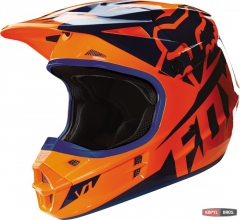 Мотошлем FOX V1 RACE HELMET ECE оранжево-синий