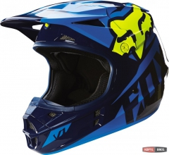 Мотошлем FOX V1 RACE HELMET ECE сине-желтый, фото №1, цена